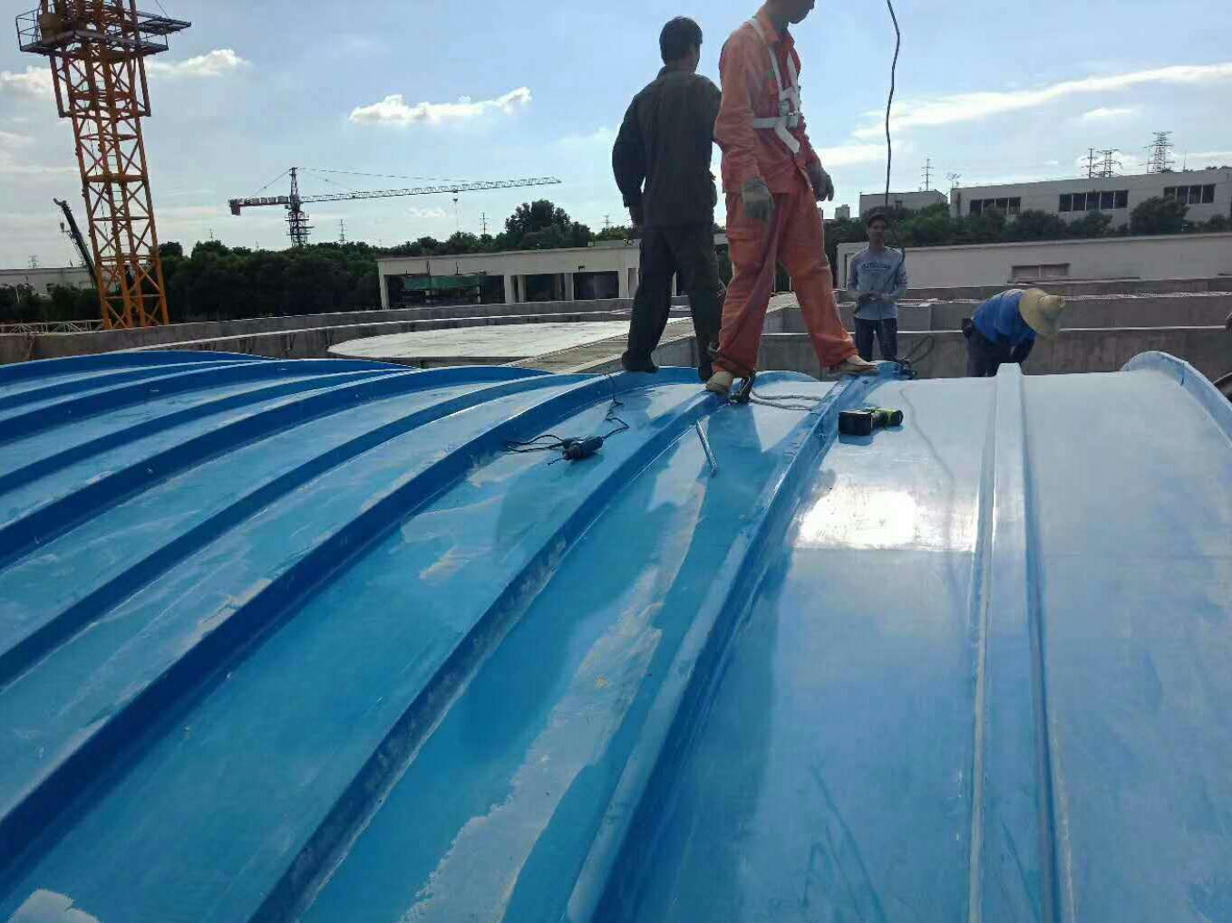 污水池废气处理工程施工现场(集气罩)