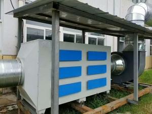 企业废气处理工程现场图片